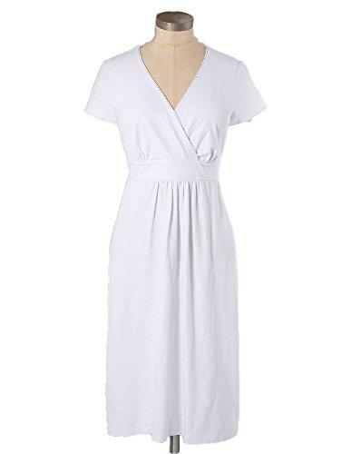 Dress 10 Boden L Soft Stretch US White Blend Casual Cotton Jersey T0aHOqZT