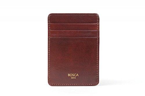Bosca Men's Old Leather Front Pocket Wallet (Dark (Mens Deluxe Front Pocket Wallet)
