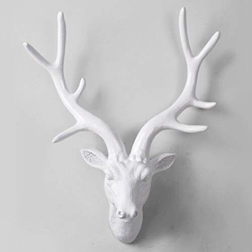 Home Decoration Accessories Three Deer Head Hanging Wall Mural Animal Furnishing European Style of The Ancient Ornament