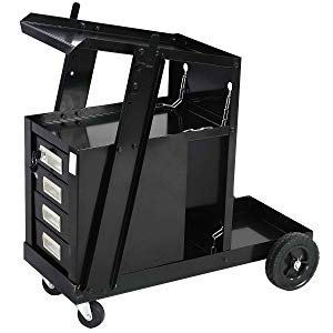 Goplus Welder Cart, MIG TIG ARC Welding Plasma Cutter Tank Storage w/2 Safety Chains, 100 Lb Capacity, Portable 4-Drawer - Con Rod Assembly
