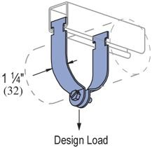"Genuine Unistrut P1121-EG 4"" Rigid Steel Conduit Pipe Strut Clamp for All 1-5/8"" Strut Channels"