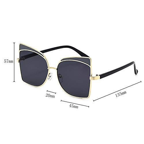 de mode de de Dames l'utilisation magasinage de soleil filles présentes d'accessoires conduite Lunettes femmes surdimensionnées de chat conception Black d'oeil lunettes de UV400 Protection de pour de de aq6dv6