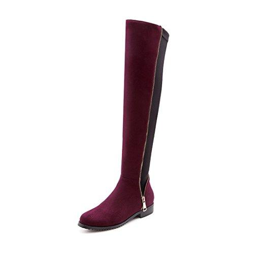 Sandalette DEDE per stivali rotondi Stivali e donna wine da Red tempo il libero dqqrt8x