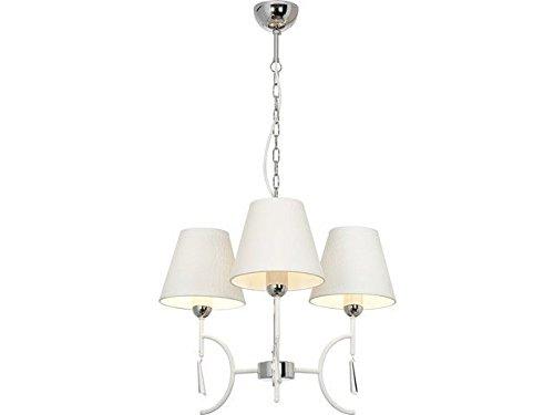 Lampadario Bianco E Cristallo : Lampadario da soffitto vintage bianco crema luci e cristallo