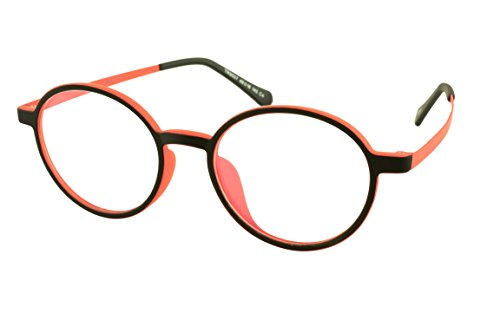 Computer Glasses Round Unisex Style with Blue Light Blocking Lens FCTR9507 - Eyeglass Round For Shape Face Best