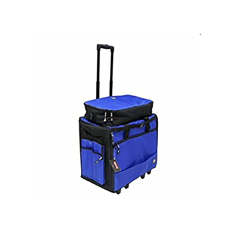 Maleta trolley con clasificadores grande para máquina de coser mediana y grande con bolsa para telas y accesorios y funda para base de corte: Amazon.es: ...