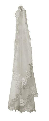 Lace Mantilla Bridal Wedding Veil 49x49 Ivory