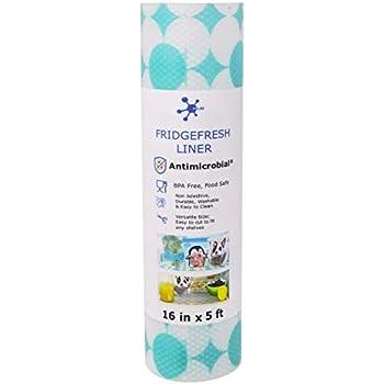 ACHub Antimicrobial Refrigerator Shelf Liner, BPA Free, Wider Roll (60
