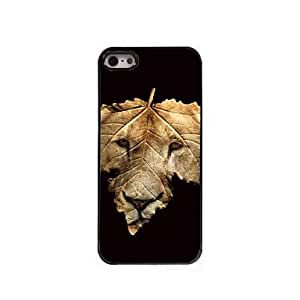 QJM The Lion and The Leap Design Aluminum Hard Case for iPhone 5/5S
