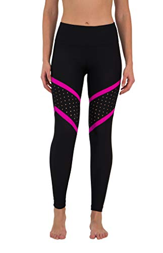 90 Degree By Reflex Pop of Color Legging (X-Large, Magenta)