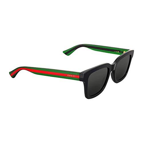 Gucci GG0001S 006 Shiny Black GG0001S Square Sunglasses Polarised Lens Category
