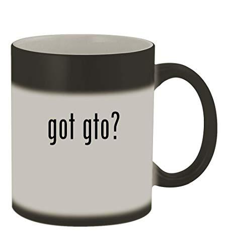 got gto? - 11oz Color Changing Sturdy Ceramic Coffee Cup Mug, Matte Black