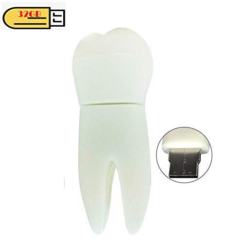 (EASTBULL Cute USB Flash Drive 32GB Memory Stick Novelty USB Thumb Drive Cartoon Miniature Tooth Shape, Date Storag (1PCS))