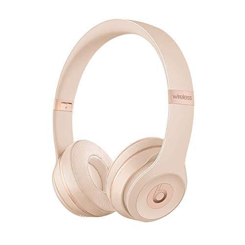 Beats Solo 3 Wireless On-Ear Headphones – Matte Gold (Renewed)