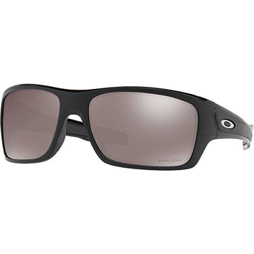 Oakley Men's Turbine Polarized Iridium Rectangular Sunglasses, Polished Black, 63 - Oakley Mens Eyeglasses