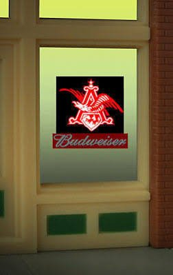 Budweiser Eagle Animated Window Sign HO O S Scale Miller 9015 ()