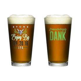 Stone Brewing Company Enjoy By 420 2018 IPA - Limited Edition Pint Glass 04.20.18 (Brewing Company Stone)
