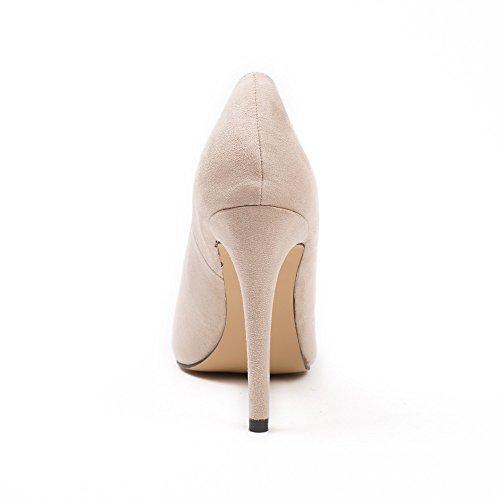 Ideal Shoes, Damen Pumps Beige