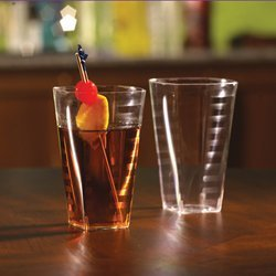 SQUARE 10 OZ. ELEGANT CLEAR TUMBLER CUPS 12/14