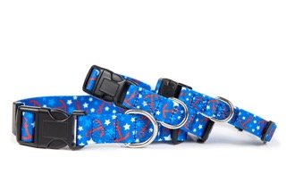 Hemp Cat Collars - Cute Nautical Buckle Dog Collar by EcoBark Pet, Eco Friendly, Ultra Soft, Durable, Hypo-Allergenic, Adjustable Dog Collar. Softer than Nylon Collars but Just as Strong! (Small 12 to 17 Inches)