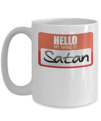My Name Is Satan Devil Worshipper Devil Horns Lucifer Diablo Halloween Costume Trick Or Treat Gift Mug Halloween Coffee Mug Cup 11OZ]()
