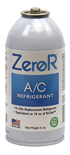 (ZeroR AC Refrigerant 1 Can - Better Than R134a - Made in USA - Natural Non Ozone Depleting)
