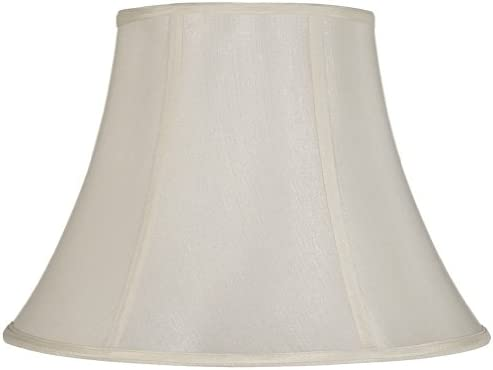 Cal Lighting SH-8104 14-WH Vertical Piped Basic Bell Shade with 14-Inch Bottom, White