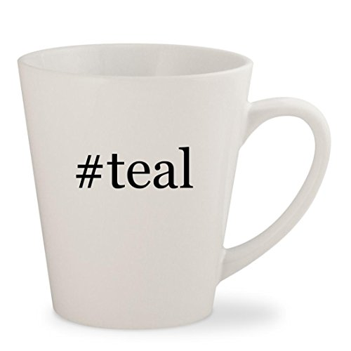 Price comparison product image #teal - White Hashtag 12oz Ceramic Latte Mug Cup