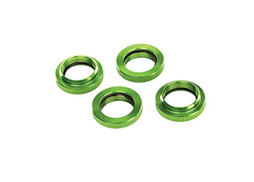 Traxxas Anodized-Aluminum GTX Shock Spring Retainer, Green
