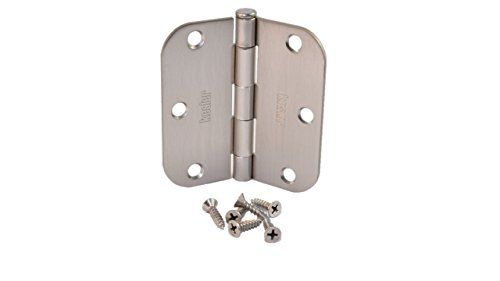 ((Pack of 30) Kesler 3 1/2 Inch Satin Nickel Door Hinges (5/8