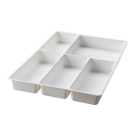 Ikea stödja/Variera - Organizador de cubiertos en color blanco; pequeño: Amazon.es: Hogar