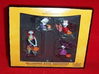 QFO6094 Halloween Town Tricksters Tim Burton's The Nightmare Before Christmas 2008 Hallmark Halloween ornament 4 pc by Halloween Town Tricksters Tim Burton's The Nightmare Before Christmas ()