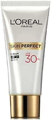 LÀ™oreal Skin Perfect Anti-fine Lines + Whitening 30+ Cream Fights First Sign of Aging SPF 21 Pa+++ Size : - 18g