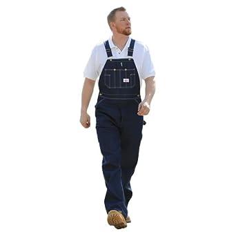 Round house men 39 s rigid denim overalls 980 overalls for men clothing - Roundhouse bib overalls ...