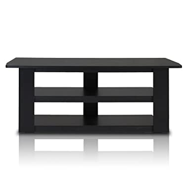 Furinno 12186BK Parsons 42-in TV Entertainment Center, Standard 42.1 (W) x16.5(H) x13.4(D), Black