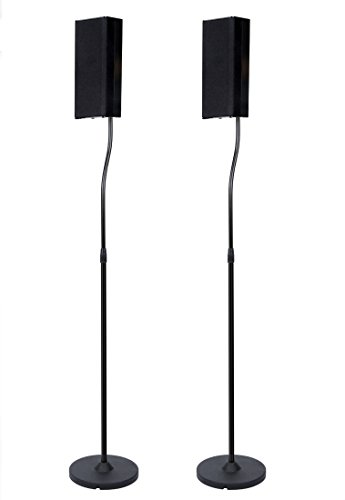 Home Cinema Speaker Stands (Pair) in Black (Home Theater Supplies compare prices)