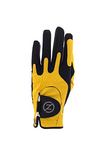 Zero Friction Men's Synthetic Golf Glove, Yellow, Left Hand, One Size]()