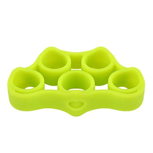 Cheap Gold Happy 1Pcs Silicone Finger Gripper Strength Trainer Resistance Band Hand Grip Wrist Yoga Stretcher Finger Expander Exercise 3 Colors