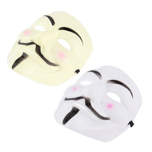 [BatterElec(TM) New V for Vendetta Anonymous Movie Adult Men Mask Halloween Costume Cool S5] (Anonymous Man Costume)