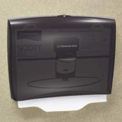 Kimberly-Clark 09506 IN-SIGHT Toilet Seat Cover Dispenser, 17 2/5 x 3 1/3 x 13, Smoke/Gray by -