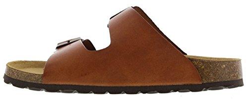 Oak & Hyde - Men's Leather Sandals - Malaga - Waxy Tan - Burkinstock Style E1WkFhpHWo