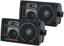 Discount Car Stereo Speakers - Pyramid 2060 300-Watt 3-Way Mini Box Speaker System
