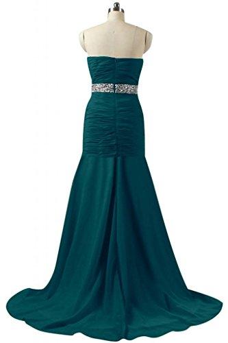 Navy raso sirena Pageant da Dress Charming abito Sunvary blue sera lungo Prom vHqT5xBfw