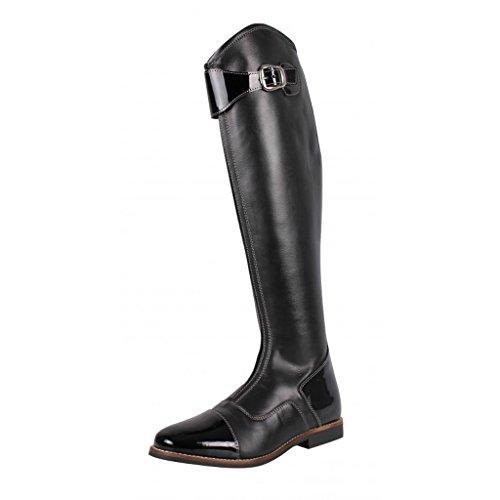 QHP Leder-Reitstiefel Adult Norah weite Wadenweite schwarz