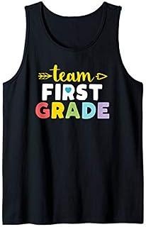Team First Grade  1st Student Teacher First Day Toddler Tank Top T-shirt | Size S - 5XL