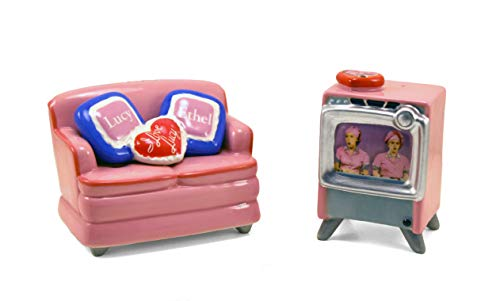 (I Love Lucy Couch & TV Salt and Pepper Shaker Set)