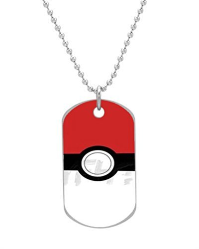 Pokemon Original Pokeball Custom Unique image (one side) BIG-Size oval Dog Pet Tag 1.3 x 2.2 inches,best - Oval Tag Dog Pendant