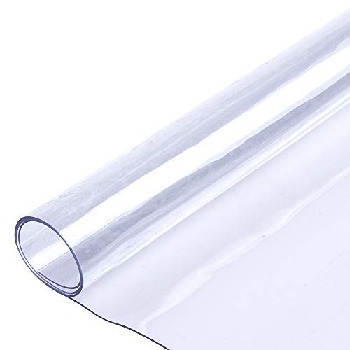 Soft Glass Table Cover For Rectangle Square Table PVC Transparent Waterproof Heat Cold Resistant ()