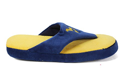 Ncaa College Comfy Flop - Licenza Ufficiale - Happy Feet Mens And Womens West Virginia Mountaineers S