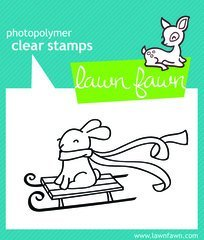 Lawn Fawn Christmas Clear Stamps - Winter Bunny LF327 by Lawn Fawn (Lawn Fawn Bunnies)